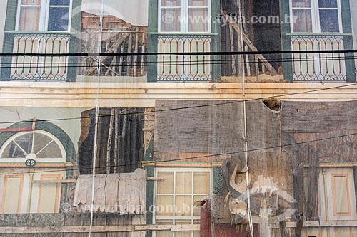 Casario do centro histórico destruído pela enchente de 2010 ainda em restauro  - São Luís do Paraitinga - São Paulo (SP) - Brasil