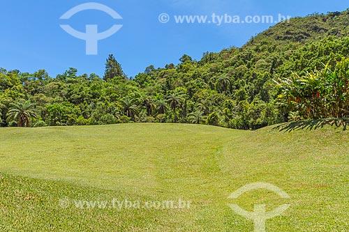 Área gramada ao lado de mata nativa dentro do Condomínio Retiro das Pedras  - Nova Lima - Minas Gerais (MG) - Brasil