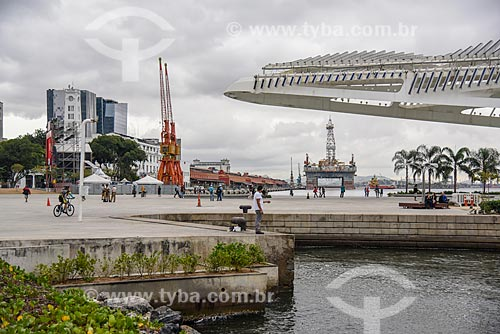 Vista da Praça Mauá com o Museu do Amanhã à esquerda  - Rio de Janeiro - Rio de Janeiro (RJ) - Brasil