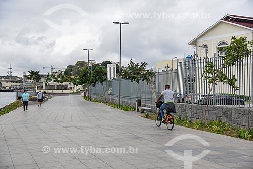 Ciclista na Orla Prefeito Luiz Paulo Conde (2016)  - Rio de Janeiro - Rio de Janeiro (RJ) - Brasil