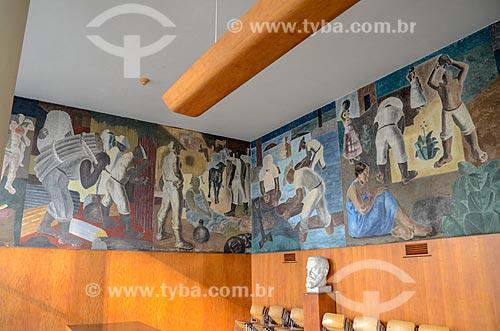 Painéis de Cândido Portinari no interior do Edifício Gustavo Capanema (1945)  - Rio de Janeiro - Rio de Janeiro (RJ) - Brasil