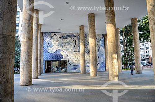 Hall do Edifício Gustavo Capanema (1945) - antigo Ministério da Educação, atual sede do Ministério da Cultura no Rio de Janeiro  - Rio de Janeiro - Rio de Janeiro (RJ) - Brasil