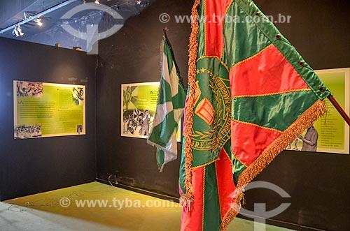 Bandeiras em exibição no Centro Cultural Cartola  - Rio de Janeiro - Rio de Janeiro (RJ) - Brasil