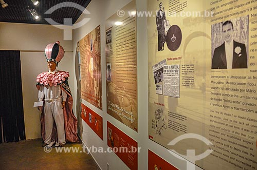 Fantasia em exibição no Centro Cultural Cartola  - Rio de Janeiro - Rio de Janeiro (RJ) - Brasil