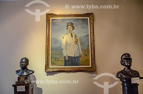 Detalhe de quadro da Major Elza em exibição no Museu Militar Conde de Linhares (1921) - parte do acervo permanente Sala Major Elza  - Rio de Janeiro - Rio de Janeiro (RJ) - Brasil