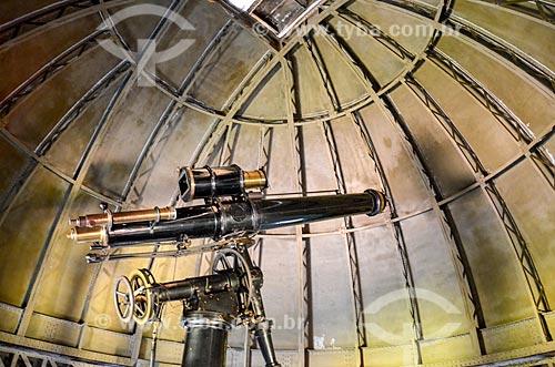 Detalhe de telescópio no Observatório Nacional  - Rio de Janeiro - Rio de Janeiro (RJ) - Brasil