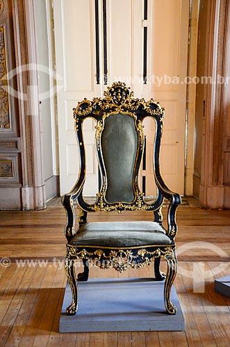 Mobiliário da Família Imperial Brasileira em exibição no Museu Nacional - antigo Paço de São Cristóvão  - Rio de Janeiro - Rio de Janeiro (RJ) - Brasil