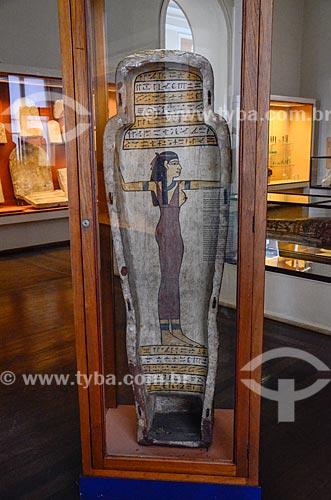 Esquife de Harsiese em exibição no Museu Nacional - antigo Paço de São Cristóvão  - Rio de Janeiro - Rio de Janeiro (RJ) - Brasil