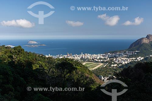 Vista do bairro do Leblon a partir do Parque Nacional da Tijuca  - Rio de Janeiro - Rio de Janeiro (RJ) - Brasil