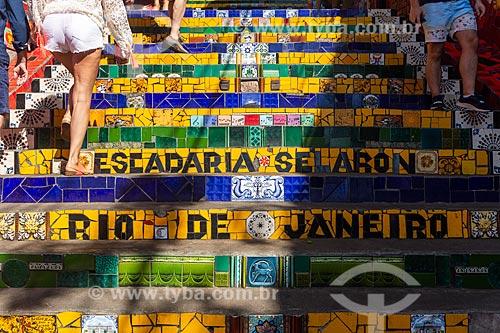 Detalhe da Escadaria do Selarón  - Rio de Janeiro - Rio de Janeiro (RJ) - Brasil