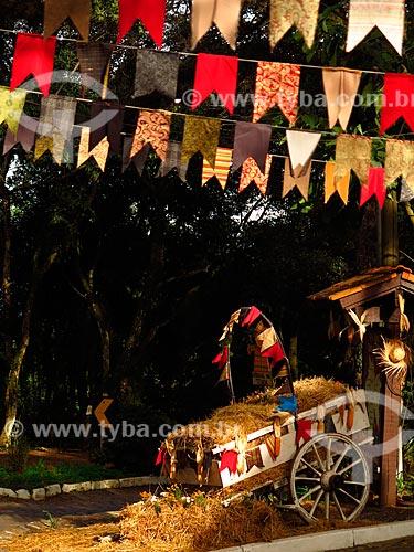 Decoração de festa junina na Rota Romântica  - Rio Grande do Sul (RS) - Brasil