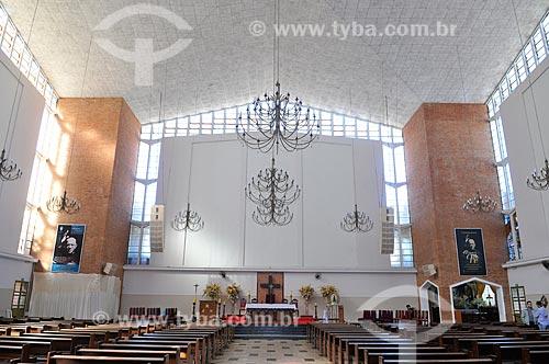 Interior do Santuário de Nossa Senhora Aparecida  - Tambaú - São Paulo (SP) - Brasil