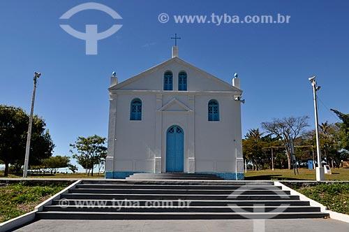 Fachada da réplica da Igreja de São José - onde o Padre Donizetti dava as suas bençãos. A antiga Igreja era localizada no local em que hoje é o Santuário de Nossa Senhora Aparecida  - Tambaú - São Paulo (SP) - Brasil