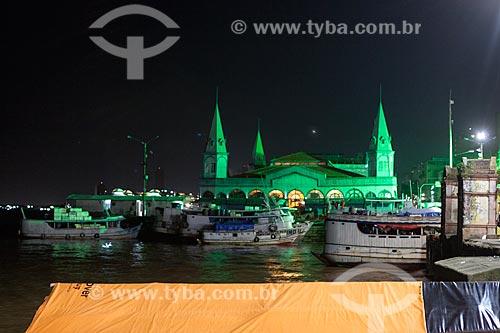 Fachada do Mercado Ver-o-peso (Século XVII)  - Belém - Pará (PA) - Brasil