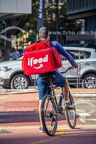 Ciclista entregador de restaurante - via aplicativo iFood  - São Paulo - São Paulo (SP) - Brasil