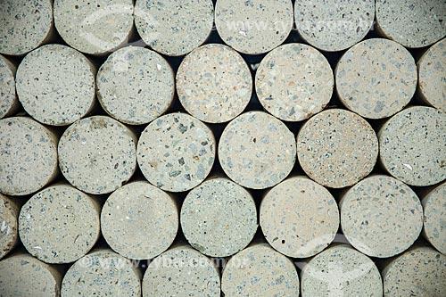 Conjunto de amostras de  diferentes misturas de concreto  - São Paulo - São Paulo (SP) - Brasil