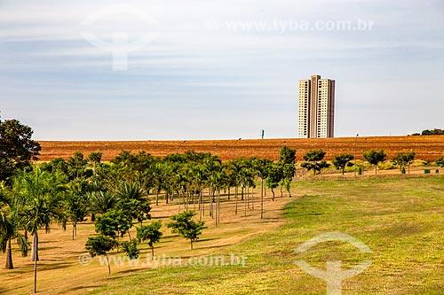 Árvores do Parque Olhos DÁgua com condomínio residencial ao fundo  - Ribeirão Preto - São Paulo (SP) - Brasil