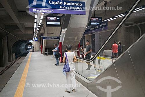 Metrô linha 5 Lilás - Estação Campo Belo do Metrô de São Paulo  - São Paulo - São Paulo (SP) - Brasil