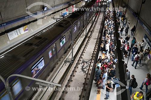 Metrô linha 5 Lilás - Estação Chácara Klabin do Metrô de São Paulo - Rede de energia suspensa  - São Paulo - São Paulo (SP) - Brasil