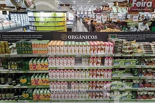 Seção de produtos orgânicos em supermercado  - São Paulo - São Paulo (SP) - Brasil
