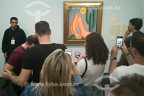 Quadro Abaporu - Exposição Tarsila do Amaral no Museu de Arte de São Paulo (MASP)  - São Paulo - São Paulo (SP) - Brasil
