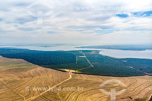 Foto feita com drone da foz do Rio Piracicaba - à direita - e do Rio Tietê formando o reservatório da Usina Hidrelétrica de Barra Bonita  - Santa Maria da Serra - São Paulo (SP) - Brasil