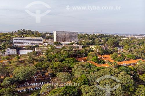 Foto feita com drone da faculdade de medicina no Campus Ribeirão Preto da Universidade de São Paulo  - Ribeirão Preto - São Paulo (SP) - Brasil