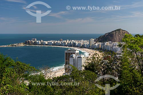 Vista da Praia de Copacabana a partir do Morro da Babilônia  - Rio de Janeiro - Rio de Janeiro (RJ) - Brasil