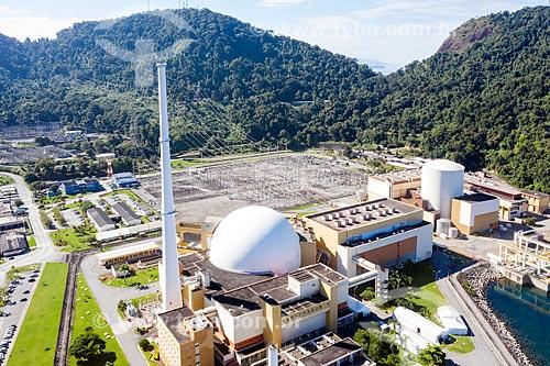 Foto feita com drone das usinas Angra 1 e 2 - Central Nuclear Almirante Álvaro Alberto  - Angra dos Reis - Rio de Janeiro (RJ) - Brasil