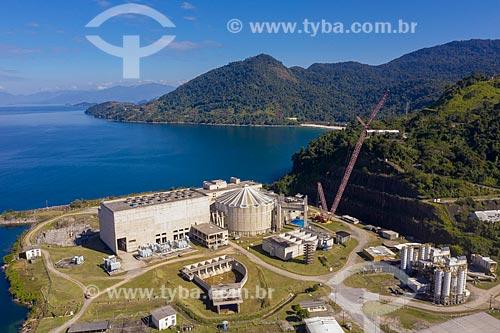 Foto feita com drone da usina Angra 3 (ainda em construção) - Central Nuclear Almirante Álvaro Alberto  - Angra dos Reis - Rio de Janeiro (RJ) - Brasil