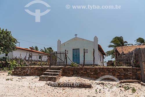 Vista da Igreja do Povoado de Atins à partir do Rio Preguiças  - Barreirinhas - Maranhão (MA) - Brasil