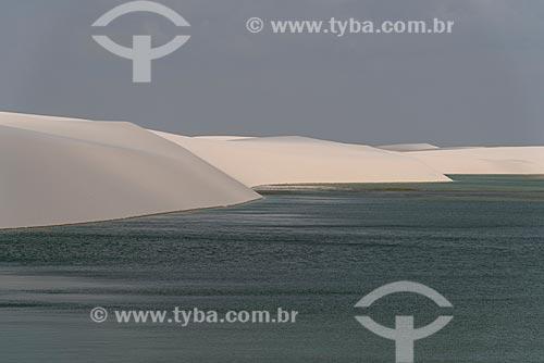 Vista de lagoa no Parque Nacional dos Lençóis Maranhenses  - Barreirinhas - Maranhão (MA) - Brasil