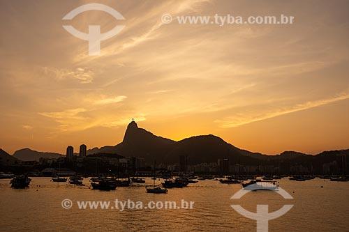 Vista do pôr do sol a partir da Mureta da Urca  - Rio de Janeiro - Rio de Janeiro (RJ) - Brasil