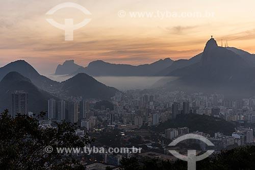 Vista do pôr do sol a partir do Morro da Urca  - Rio de Janeiro - Rio de Janeiro (RJ) - Brasil