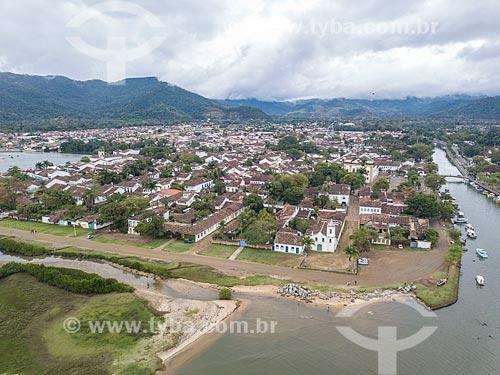 Foto feita com drone do centro histórico da cidade de Paraty  - Paraty - Rio de Janeiro (RJ) - Brasil