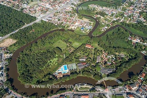 Foto feita com drone da Ilha Morena  - Caraguatatuba - São Paulo (SP) - Brasil
