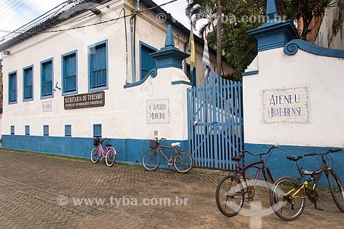 Secretaria Municipal de Turismo - antiga Casa Ateneu Ubatubense - Também conhecida como Paço da Nóbrega  - Ubatuba - São Paulo (SP) - Brasil