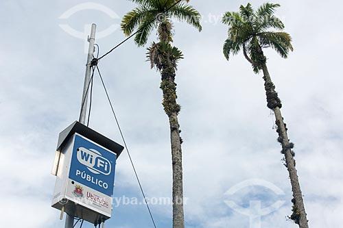 WiFi público na Praça da Matriz  - Ubatuba - São Paulo (SP) - Brasil