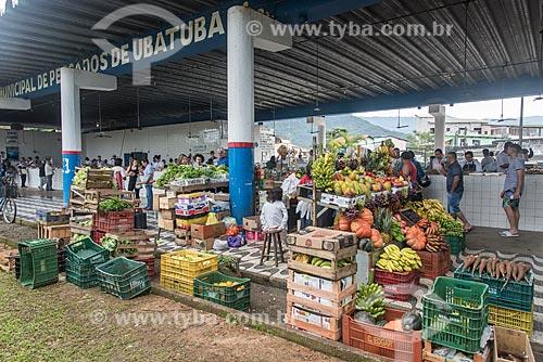 Legumes e frutas à venda no Mercado Municipal de Peixes  - Ubatuba - São Paulo (SP) - Brasil