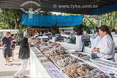 Camarão à venda no Mercado Municipal de Peixes  - Ubatuba - São Paulo (SP) - Brasil