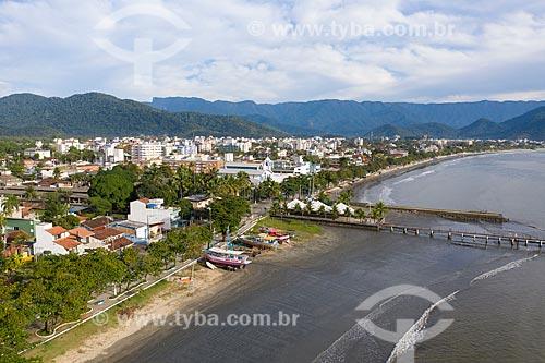Foto feita com drone da Praia do Itaguá  - Ubatuba - São Paulo (SP) - Brasil