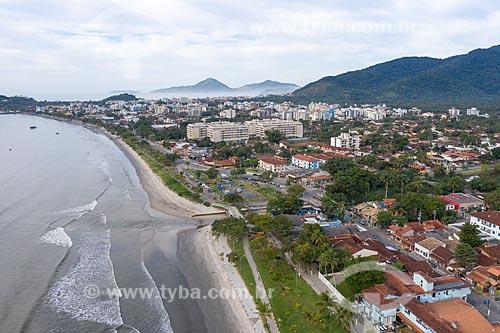 Foto feita com drone da Foz do Rio Tavares  - Ubatuba - São Paulo (SP) - Brasil