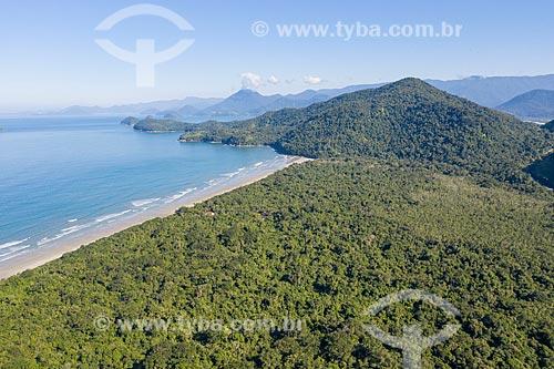 Foto feita com drone da Praia da Fazenda  - Ubatuba - São Paulo (SP) - Brasil