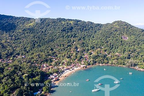 Foto feita com drone da praia e da vila de Picinguaba  - Ubatuba - São Paulo (SP) - Brasil