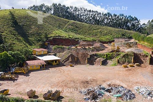Foto feita com drone de Usina de Reciclagem  - Jambeiro - São Paulo (SP) - Brasil