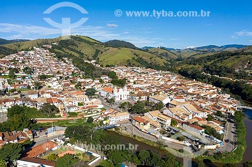 Foto feita com drone da Igreja Matriz São Luiz de Tolosa  - São Luíz do Paraitinga - São Paulo (SP) - Brasil