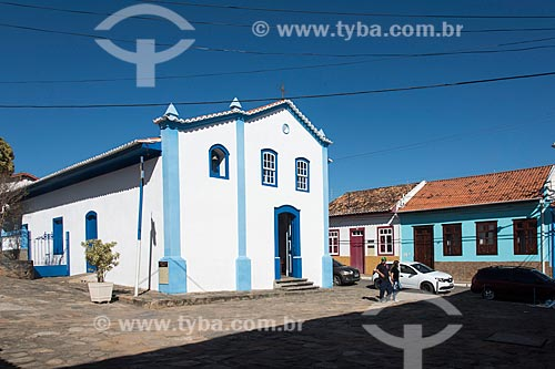 Capela Nossa Senhora das Mercês (1814) - construída em taipa  - São Luíz do Paraitinga - São Paulo (SP) - Brasil
