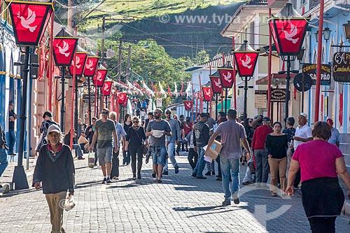 Centro da cidade enfeitada para a festa de Corpus Christi  - São Luíz do Paraitinga - São Paulo (SP) - Brasil