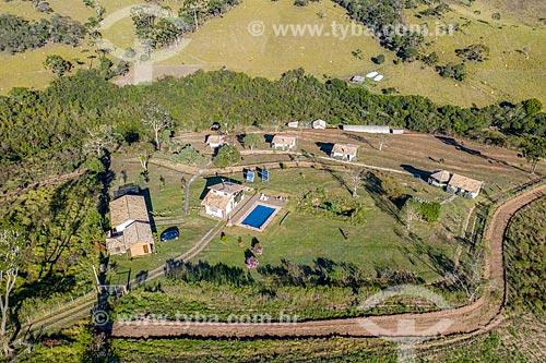 Foto feita com drone de pousada na Serra da Bocaina  - Cunha - São Paulo (SP) - Brasil