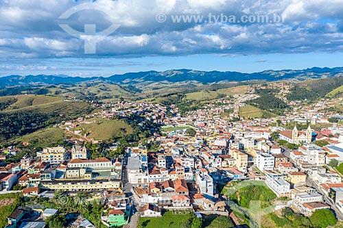 Foto feita com drone do centro  - Cunha - São Paulo (SP) - Brasil